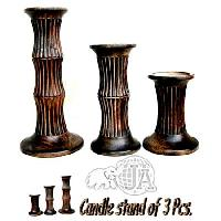 Wooden Candle Stand - 003