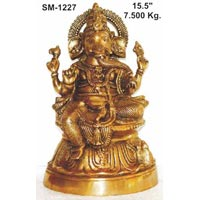 Brass Ganesh Statue- G-011