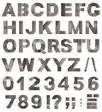 Stainless Steel Alphabet Blocks