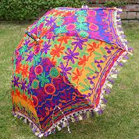 embroidered beach umbrellas
