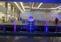 Glass Aqua Lens Sphere Entrance Fountains