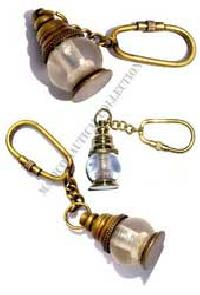 Brass Nautical Lantern Keychain