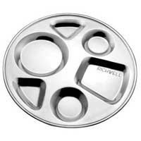 Stainless Steel Compartment Tray (round) Plate Dish