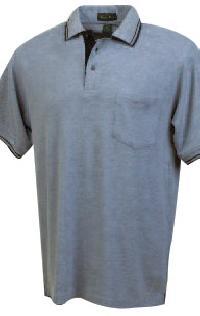 Trimmed Pique Pocket Polo Shirts