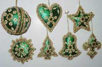 Hand Embroidered Christmas Ornaments 01