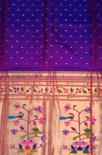 Real Jari Traditional  Paithani Colour