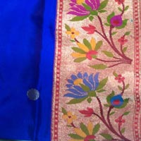 Lotus border brocade Paithani
