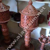 Clay Lamp Shade With Stand