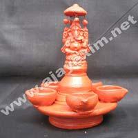Clay Ganeshsa Oil Lamp