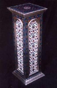 White Metal Pedestal