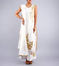 designer crepe salwar kameez