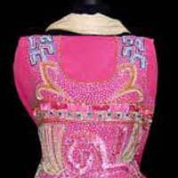 Pink Geomatrical Georgette Salwar Kameez