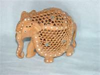 Wooden Jaali Elephant