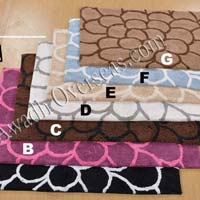 table tufted bath mats AO-BM-104
