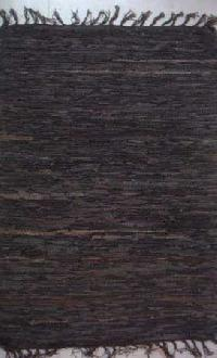 Flat Weave Suede Leather Rug