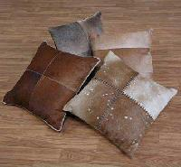 Leather Cushion Cover-large Blocks