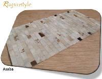 Thin Stripe Pattern Patchwork Carpet-asaba