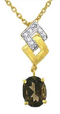 Smoky Diamond Pendant