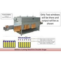Double Stage Battery Cutting Machine
