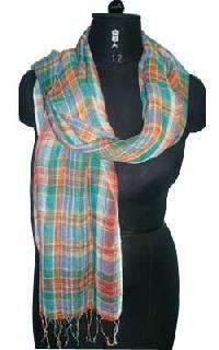 Yarn Dyed Check Scarf