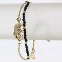 Beaded Elephant Charm Bracelet