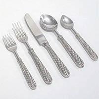 Stainless Steel Chevron Cutlery Flatware Set
