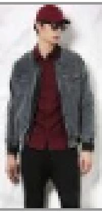 SKULT Men Dark Grey Acid Wash Regular Fit Denim Varsity Jacket