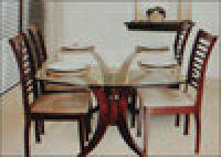 4-seater Glass Top Dining Table