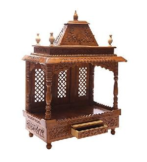 Shilpi Handcrafted Wooden Sheesham Temple