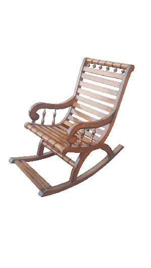 Shilpi Sheesham Wood Hand Carved Rocking Chair