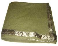 Olive Green Wool Blanket
