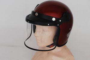 Open Face Helmet With Visor