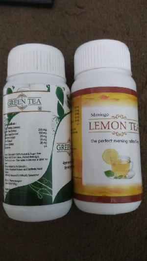 green lemon  tea tablet