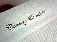 Embroidered Cotton Terry Towels