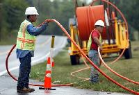 Optical Fiber Power Cable Laying