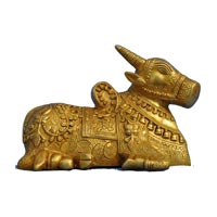 Brass Cow Statue