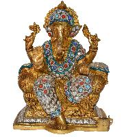 Brass Sculpture Decorative Figurine Ganesha Statue For Decor