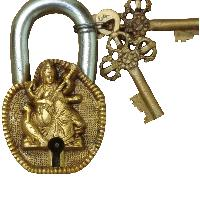 Goddess Saraswati Pad Locks of Brass by Aakrati