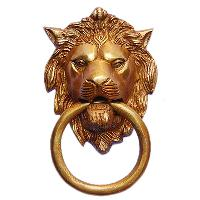 Lion Face Door Knocker By Aakrati