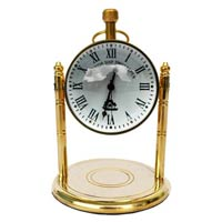 Table Clock Robart Style with Roman Numbers