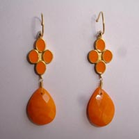 Enamel Glass Bead Earings