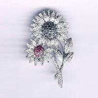 White Gold Diamond Brooches-1