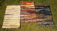 Cotton Rag Rugs, Cotton Rugs, Multicolor Warp Rugs