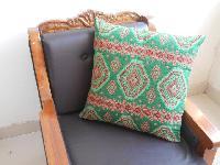 Green Woven Cushion Cover