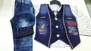 Boys Denim Waist Coat