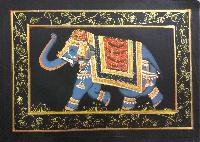 Elephant Silk painting