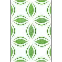 White Printed Luster Wall Tiles