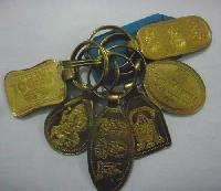 Golden Metal Key Chain
