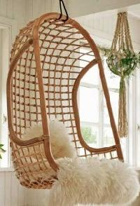 Solid Cane Hanging Chair