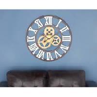 round shaped wall clock
